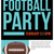 american football party flyer invitation illustration stock photo © enterlinedesign