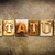 status concept letterpress leather theme stock photo © enterlinedesign