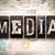 media concept metal letterpress type stock photo © enterlinedesign