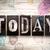 今日 · ヴィンテージ · タイプ · 言葉 · 書かれた - ストックフォト © enterlinedesign