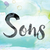 sons colorful watercolor and ink word art stock photo © enterlinedesign