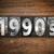 1990s concept metal letterpress type stock photo © enterlinedesign
