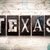 texas concept metal letterpress type stock photo © enterlinedesign
