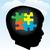 dziecko · autyzm · profil · głowie · symboliczny · puzzle - zdjęcia stock © enterlinedesign