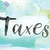 taxes colorful watercolor and ink word art stock photo © enterlinedesign