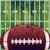 アメリカン · フットボールの競技場 · グランジ · レトロな · ボール · 実例 - ストックフォト © enterlinedesign