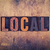 local concept wooden letterpress type stock photo © enterlinedesign