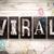 viral concept metal letterpress type stock photo © enterlinedesign