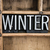 winter concept metal letterpress word in drawer stock photo © enterlinedesign