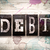 debt concept metal letterpress type stock photo © enterlinedesign