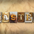 easter concept rusted metal type stock photo © enterlinedesign