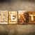 rent concept letterpress leather theme stock photo © enterlinedesign