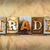 trade concept rusted metal type stock photo © enterlinedesign
