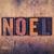 noel concept wooden letterpress type stock photo © enterlinedesign