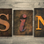 sin concept wooden letterpress type stock photo © enterlinedesign
