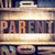 parent concept letterpress type stock photo © enterlinedesign