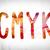 cmyk concept watercolor word art stock photo © enterlinedesign