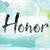 honor colorful watercolor and ink word art stock photo © enterlinedesign