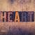 heart concept wooden letterpress type stock photo © enterlinedesign
