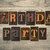 birthday party wooden letterpress concept stock photo © enterlinedesign