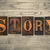 story concept wooden letterpress type stock photo © enterlinedesign