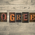 go green wooden letterpress concept stock photo © enterlinedesign
