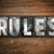 rules concept metal letterpress type stock photo © enterlinedesign