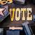 szavazó · regisztráció · piros · pecsét · fehér · szabadság - stock fotó © enterlinedesign