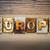 globale · woord · geschreven · roestige · metaal - stockfoto © enterlinedesign