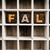 fall concept wooden letterpress type in draw stock photo © enterlinedesign