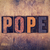 pope concept wooden letterpress type stock photo © enterlinedesign