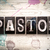pastor concept metal letterpress type stock photo © enterlinedesign