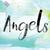 天使のような · 描いた · 水彩画 · 言葉 · 芸術 · カラフル - ストックフォト © enterlinedesign