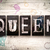 queen concept metal letterpress type stock photo © enterlinedesign