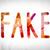 fake concept watercolor word art stock photo © enterlinedesign