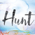 hunt colorful watercolor and ink word art stock photo © enterlinedesign