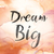 dream big colorful watercolor and ink word art stock photo © enterlinedesign