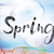 spring colorful watercolor and ink word art stock photo © enterlinedesign