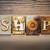 shop concept letterpress theme stock photo © enterlinedesign