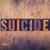 suicide concept wooden letterpress type stock photo © enterlinedesign