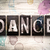 dance concept metal letterpress type stock photo © enterlinedesign
