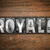 royals concept metal letterpress type stock photo © enterlinedesign