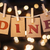 dine concept clipped cards and lights stock photo © enterlinedesign