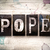 pope concept metal letterpress type stock photo © enterlinedesign
