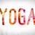yoga concept watercolor word art stock photo © enterlinedesign