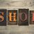 магазин · слово · написанный · ржавые · металл - Сток-фото © enterlinedesign