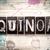 quinoa concept metal letterpress type stock photo © enterlinedesign