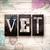 vet concept metal letterpress type stock photo © enterlinedesign