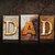 dad letterpress concept on dark background stock photo © enterlinedesign