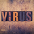 virus concept wooden letterpress type stock photo © enterlinedesign